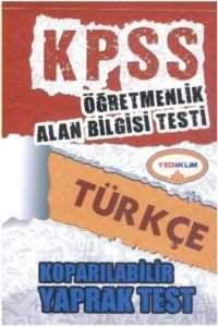 Yediiklim KPSS ÖABT Türkçe Koparılabilir Yaprak Test