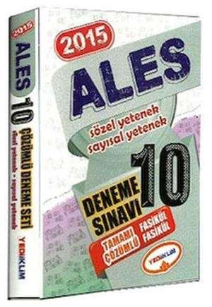 ALES 10 Fasikül Deneme Tamamı Çözümlü; 2015