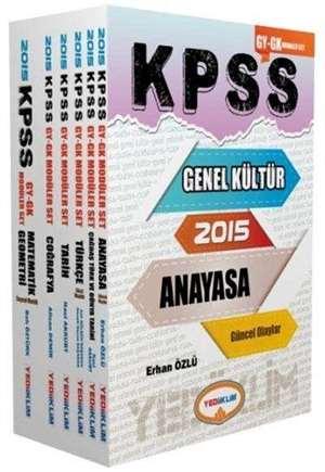 KPSS Genel Kültür - Genel Yetenek Konu Anlatımlı Modüler Set; 2015