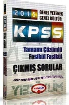 Yediiklim 2015 KPSS Genel Yetenek - Genel Kültür Tamamı Çözümlü Fasikül Çıkmış Sorular