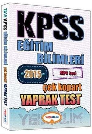 KPSS Eğitim Bilimleri Yaprak Test; Çek Kopart Yaprak Test - 2015