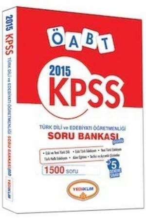 Yediiklim KPSS ÖABT Türk Dili ve Edebiyatı Öğretmenliği Soru Bankası 2015
