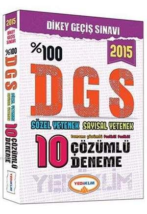 DGS Tamamı Çözümlü 10 Fasikül Deneme