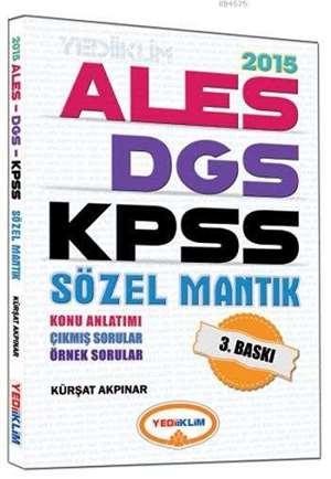 2015 KPSS - ALES - DGS Sözel Mantık Konu Anlatımlı