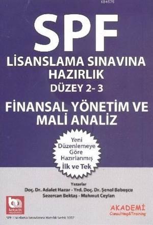 SPF Lisanslama Sinavlarina Hazirlik Düzey 2-3; Finansal Yönetim ve Mali Analiz