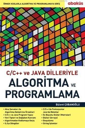 C/C ++ Ve Java Dilleriyle Algoritma Ve Programlama