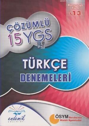 Endemik Çözümlü 15 Ygs Türkçe Denemeleri - Kampanyalı