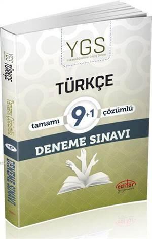 YGS Türkçe Tamamı Çözümlü 9+1 Deneme Sınavı