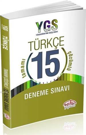 YGS Türkçe Tamamı Çözümlü 15 Deneme Sınavı