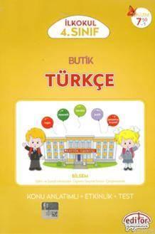 Editör 4.Sınıf Butik Türkçe Konu Anlatımlı