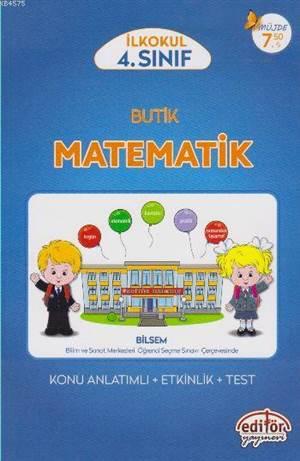 Editör 4. Sınıf Butik Matematik Konu Anlatımlı