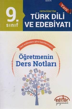 9. Sınıf Türk Dili Ve Edebiyatı Öğretmenin Ders Notları