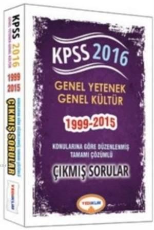 2016 KPS Yediiklim Genel Yetenek Genel Kültür Konulara Göre Düzenlenmiş Tamamı Çözümlü Çıkmış Sorular