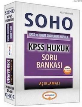 Yediiklim SOHO KPSS-A Grubu Çözümlü Hukuk Soru Bankası