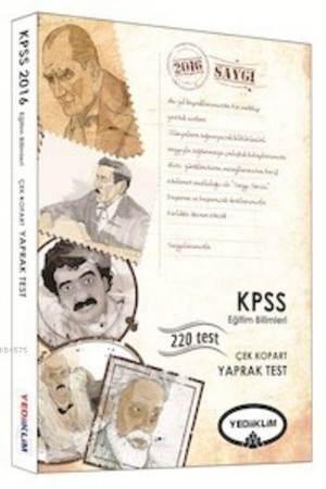 Yediiklim Kpss Eğitim Bilimleri Çek Kopart Yaprak Test 2016
