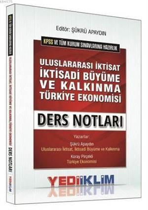KPSS-A Grubu Uluslararası İktisat, İktisadi Büyüme Ve Kalkınma, Türkiye Ekonomisi Ders Notları