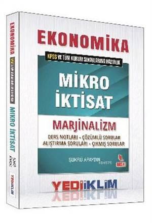 Yediiklim 2016 KPSS Ekonomika Mikro İktisat Marjinalizm Ders Notları