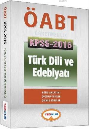 2016 ÖABT Türk Dili Ve Edebiyatı Konu Anlatımlı