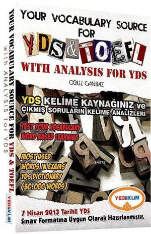 Yediiklim 2016 Your Vocabulary Source For YDS And TOEFL