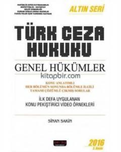 Türk Ceza Hukuku Genel Hükümler Altın Seri