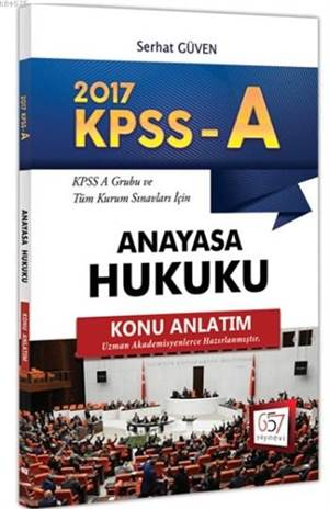 2017 KPSS A Grubu Anayasa Hukuku Konu Anlatım
