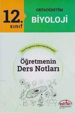12. Sınıf Ortaoğretim Biyoloji Öğretmenin Ders Notları