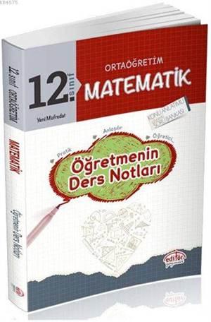 12. Sınıf Matematik Öğretmenin Ders Notları