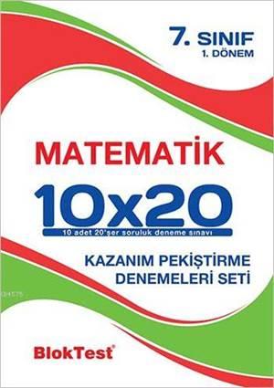 7.Sınıf Bloktest Matematik 10X20 Kap Denemeleri 1. Dönem