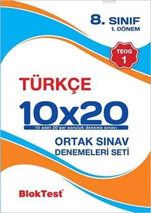 8.Sınıf Bloktest Türkçe 10X20 Teog 1-Deneme Seti