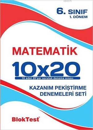 6.Sınıf Bloktest Matematik 10X20 Kap Denemeleri 1. Dönem