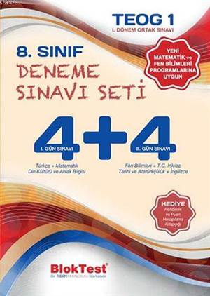 8.Sınıf Bloktest Teog 1. Deneme Sınavı Seti (4+4)