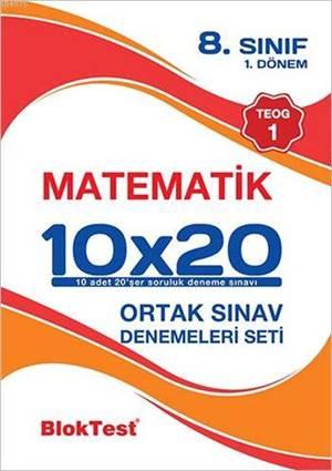 8.Sınıf Bloktest Matematik 10X20 Teog 1-Deneme Seti