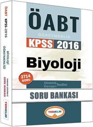 2016 ÖABT Biyoloji Öğretmenliği Soru Bankası