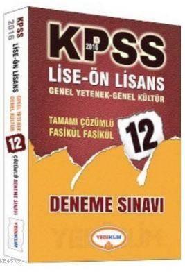 Kpss Lise-Önlisans Genel Yetenek Genel Kültür Tamamı Çözümlü 12 Fasikül Deneme 2016