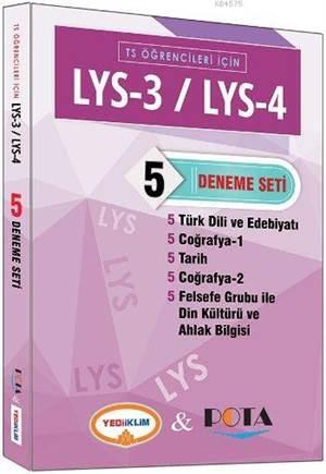 LYS 3 LYS 4 TS Öğrencileri İçin 5 Deneme Seti