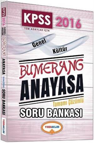 KPSS 2016 Bumerang Anayasa Tamamı Çözümlü Soru Bankası