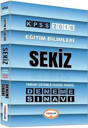 2016 KPSS Eğitim Bilimleri Tamamı Çözümlü 8 Fasikül Deneme Sınavı