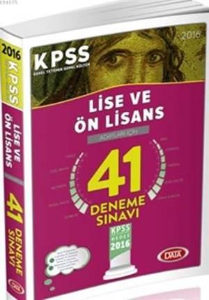 KPSS Lise & Önlisans 41 Deneme Sınavı 2016