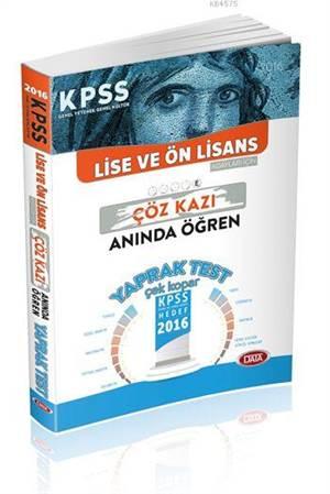 2016 KPSS Lise & Önlisans Yaprak Test Çöz Kazı Anında Öğren
