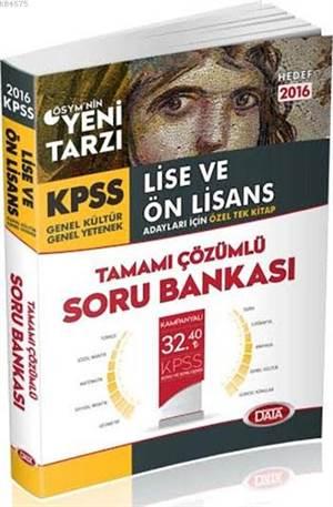 Kpss Lise Ve Önlisans Tam.Çöz.Soru.Bankası 2016