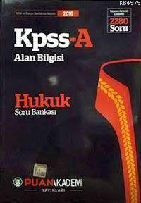 2016 KPSS-A Alan Bilgisi Hukuk Soru Bankası