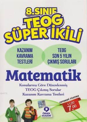 8. Sınıf TEOG Süper İkili Matematik
