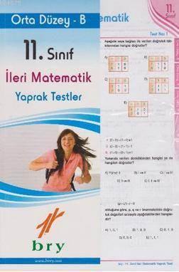 Birey 11. Sınıf İleri Matematik Yaprak Testler - Orta Düzey B