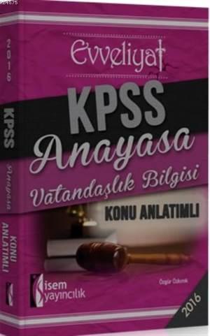 Kpss Anayasa Vatandaşlık Bilgisi Konu Anlatımlı 2016