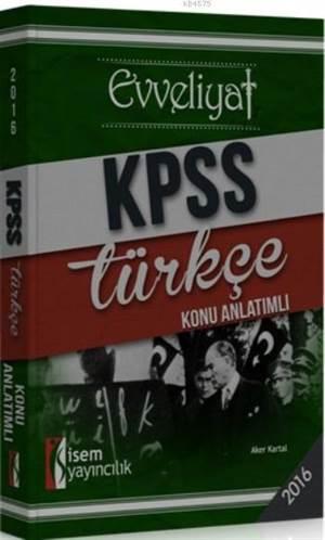 Evveliyat Kpss Türkçe; Konu Anlatımlı 2016