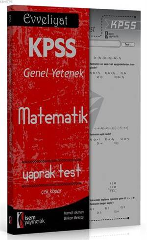 İsem Yayınları Evveliyat KPSS Matematik Çek Kopar Yaprak Test 2016