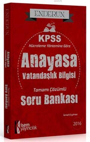 Enderun KPSS Vatandaşlık Tamamı Çözümlü Soru Bankası 2016; Hücreleme Yöntemine Göre