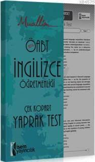 Muallim Öabt İngilizce Öğretmenliği Çek Kopar Yaprak Test 2016