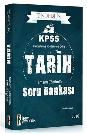 Enderun KPSS Tarih Tamamı Çözümlü Soru Bankası 2016; Hücreleme Yöntemine Göre