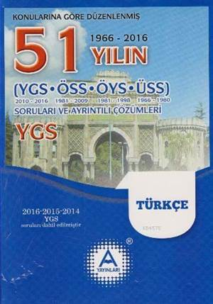 YGS Türkçe 51 Yılın Çıkmış Soruları Ve Ayrıntılı Çözümleri
